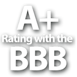Companion Veterinary Hospital has an A+ rating with Better Business Bureau (BBB)